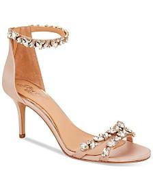 41ad0bb9756066 Jewel Badgley Mischka Caroline Embellished Ankle-Strap Evening Sandals