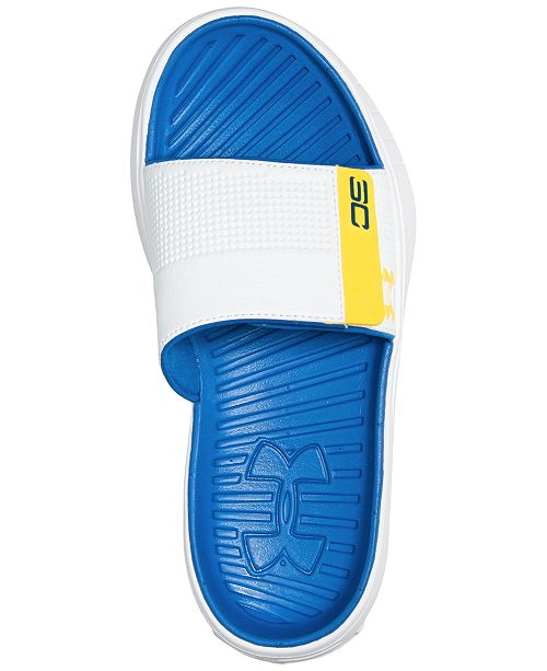 87dd9d4bb4d1 Under Armour Men s Curry 3 Slide Sandals from Finish Line   Reviews ...