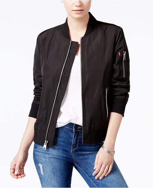 Levi s Zip-Detail Bomber Jacket - Jackets   Blazers - Women - Macy s 84fa089b0