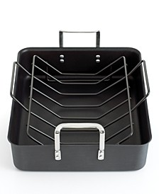 "Classic Nonstick 16.5"" Roaster with Roasting Rack"