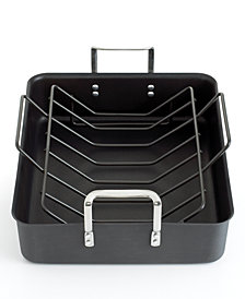 "Calphalon Classic Nonstick 16.5"" Roaster with Roasting Rack"