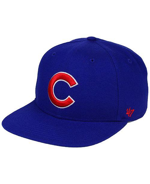 87a27480d89 47 Brand Chicago Cubs Sure Shot Snapback Cap - Sports Fan Shop By ...