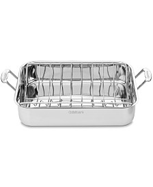 "Cuisinart Chef's Classic Stainless Steel 16"" Roaster with Roasting Rack"
