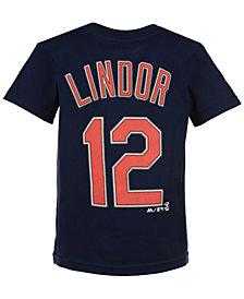 Majestic MLB Francisco Lindor.T-Shirt, Little Boys (4-7)