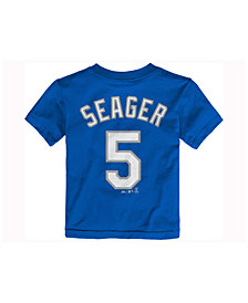 Majestic Toddlers' Corey Seager Los Angeles Dodgers Official Player T-Shirt