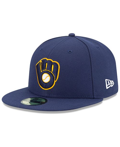 new products ceea0 5a77c ... New Era Milwaukee Brewers Authentic Collection 59FIFTY Cap ...