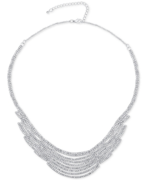 Say Yes to the Prom Silver-Tone Pave Statement Necklace, a Macy's Exclusive Style