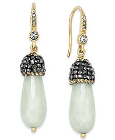 Paul & Pitü Naturally 14k Gold-Plated Quartz Drop Earrings
