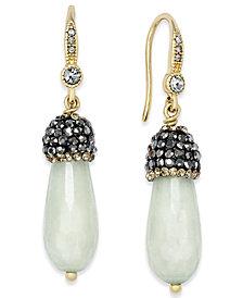 Paul & Pitü Naturally 14k Gold-Plated Quartz Drop Earrings
