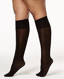 Women's Plus Size Comfy Cuff Opaque Graduated Compression Trouser Sock 5203