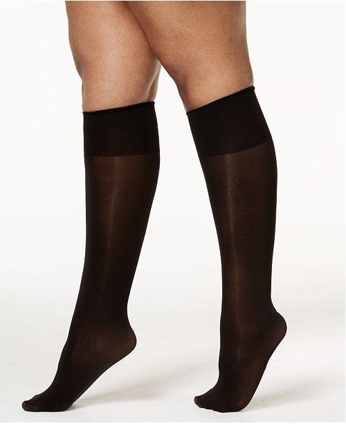 36542b4323 Berkshire Women s Plus Size Comfy Cuff Opaque Graduated Compression Trouser  Sock 5203
