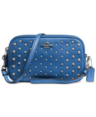 coach wholesale outlet online 45wr  COACH Crossbody Clutch in Polished Pebble Leather with Ombre Rivets