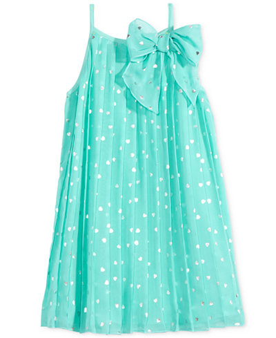 Epic Threads Pleated Chiffon Dress, Toddler & Little Girls (2T-6X), Only at