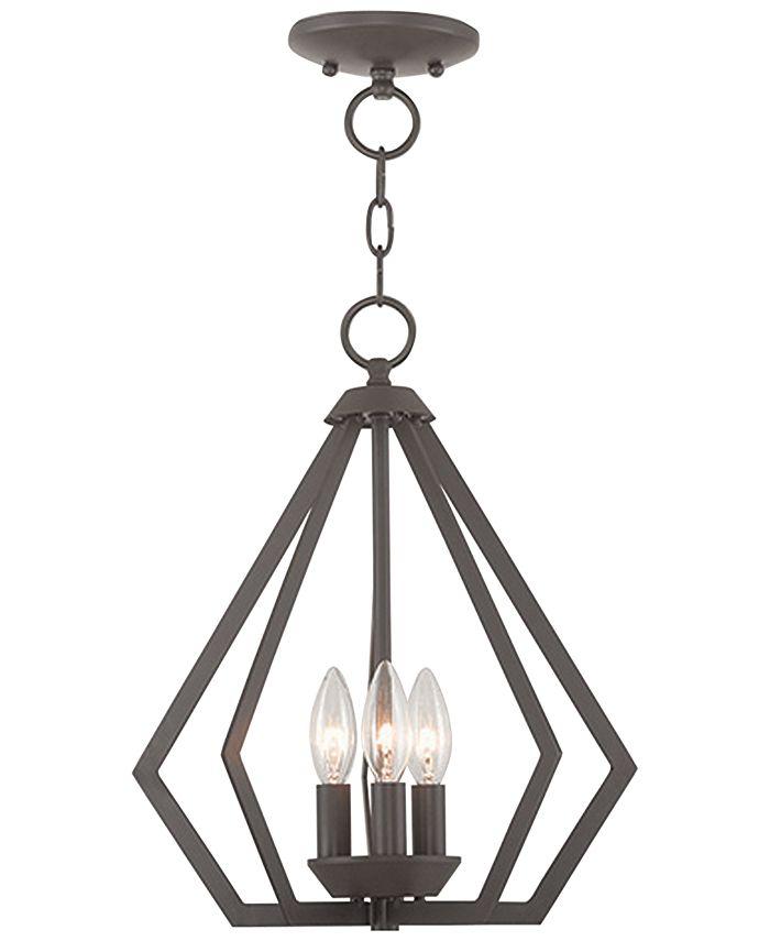 Livex - Prism 3- Light Metal 14'' Pendant