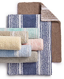 Martha Stewart Collection Cotton Reversible Bath Rug Collection, Created for Macy's