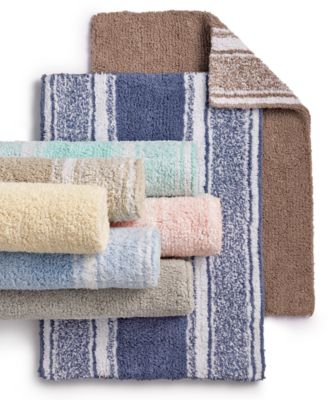 Cotton Reversible Bath Rug Collection, Created For Macyu0027s ...