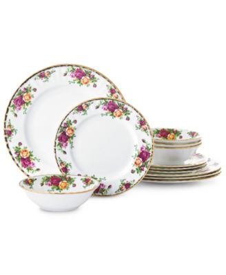 Old Country Roses 12-Piece Dinnerware Set, Created for Macy's
