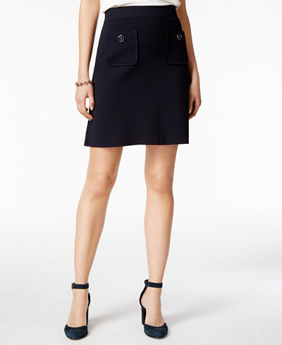 Tommy Hilfiger Pull-On A-Line Skirt, Created for Macy's - A Line ...