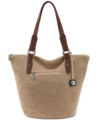 Image of The Sak Silverwood Crochet Shopper Tote, a Macy's Exclusive Style