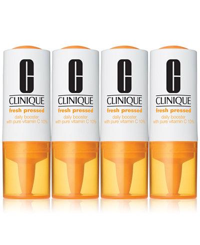 Clinique Fresh Pressed Vitamin C Daily Booster, 4 vials
