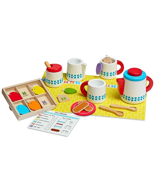 Melissa and Doug Melissa & Doug Wooden Steep & Serve Tea Set