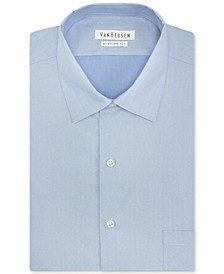 Big and Tall Classic-Fit Solid Herringbone Dress Shirt