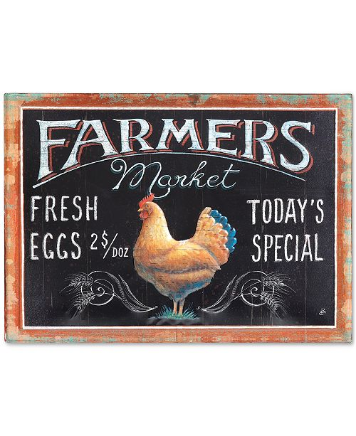 3r studio farmers market rooster tin embossed wall decor - wall art