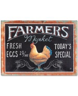 Image of Farmers Market Rooster Tin Embossed Wall Decor