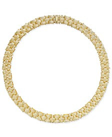 Textured Woven Necklace in 14k Gold-Plated Sterling Silver