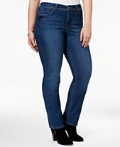 73d7ee46 Style & Co Plus & Petite Plus Size Tummy Control Straight-Leg Jeans, Created