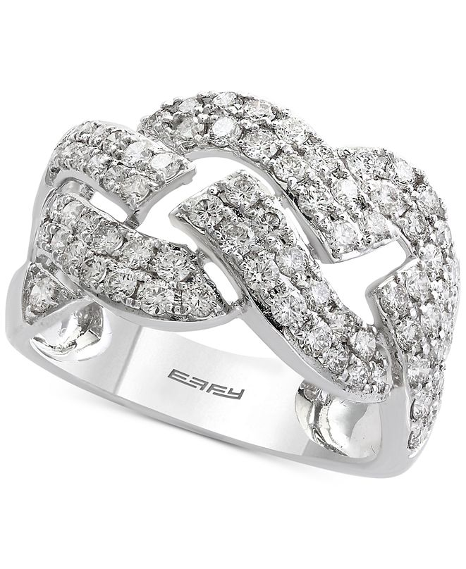 EFFY Collection Pavé Classica by EFFY® Diamond Ring (1-1/3 ct. t.w.) in 14k White Gold