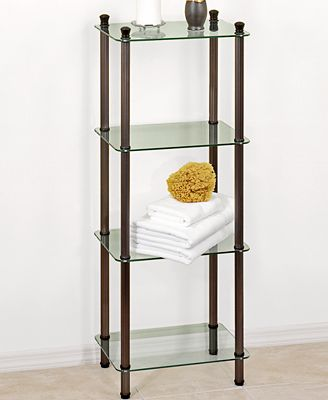 Bathroom Etagere creative bath organization, l'etagere 4 shelf storage tower