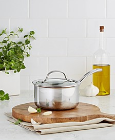 Tri-Ply Stainless Steel 1.5 Qt. Covered Saucepan