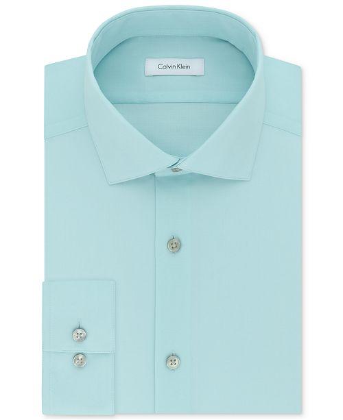 Calvin Klein Men's Big & Tall Classic-Fit Non-Iron Herringbone Dress Shirt
