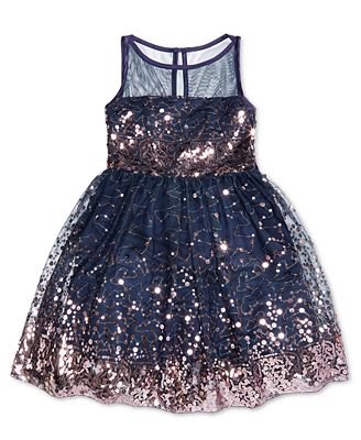 Crystal Doll Sequin Illusion Dress, Big Girls (7-16) - Dresses ...