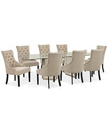 Sophia Dining Room 9-Pc. Set (96'' Table & 8 Marais Chairs)