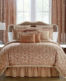 Waterford Reversible Margot Persimmon Bedding Collection