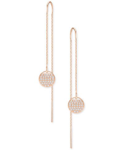 Swarovski Ginger Crystal Circle Threader Earrings
