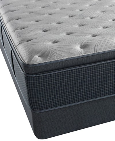 Beautyrest Silver Seaport Mist 15 Luxury Firm Pillowtop Mattress Set- Queen Split