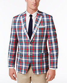 Lauren Ralph Lauren Men's Classic-Fit Multi-Color Madras Ultraflex Cotton Sport Coat