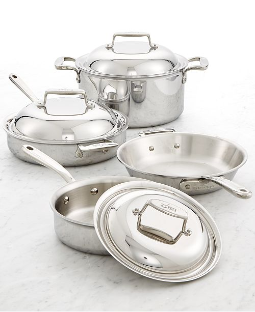 c6836b15d2ee All-Clad d7 Stainless Steel 7-Pc. Cookware Set & Reviews - Cookware ...