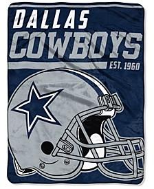 """Dallas Cowboys Micro Raschel 46x60 """"40 Yard Dash"""" Blanket"""