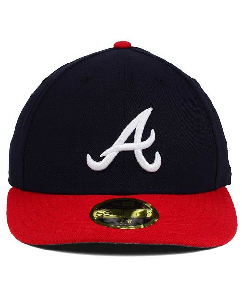 ... sale new era atlanta braves low profile ac performance 59fifty cap  sports fan shop by lids e8cd3f5d6610