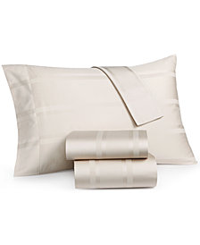 CLOSEOUT! Dobby Stripe Queen 4-Piece Sheet Sets, 400 Thread Count, 100% Cotton, Created for Macy's