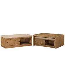 CLOSEOUT! Abilene Nesting Coffee Table w/ 2 Benches