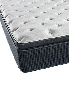"CLOSEOUT! Beautyrest Silver Golden Gate 13.75"" Plush Pillow Top Mattress- Queen"