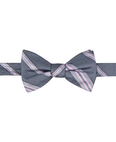 Ryan Seacrest Distinction™ Men's Imperial Stripe Pre-Tied Bow Tie, Created for Macy's