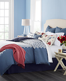 CLOSEOUT! Martha Stewart Collection Madeline 10-Pc. Queen Comforter Set, Created for Macy's