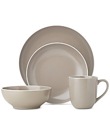 Dansk Kisco Taupe 16-Piece Dinnerware Set