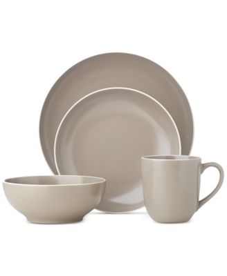 main image; main image ...  sc 1 st  Macyu0027s & Dansk Kisco Taupe 16-Piece Dinnerware Set - Dinnerware - Dining ...